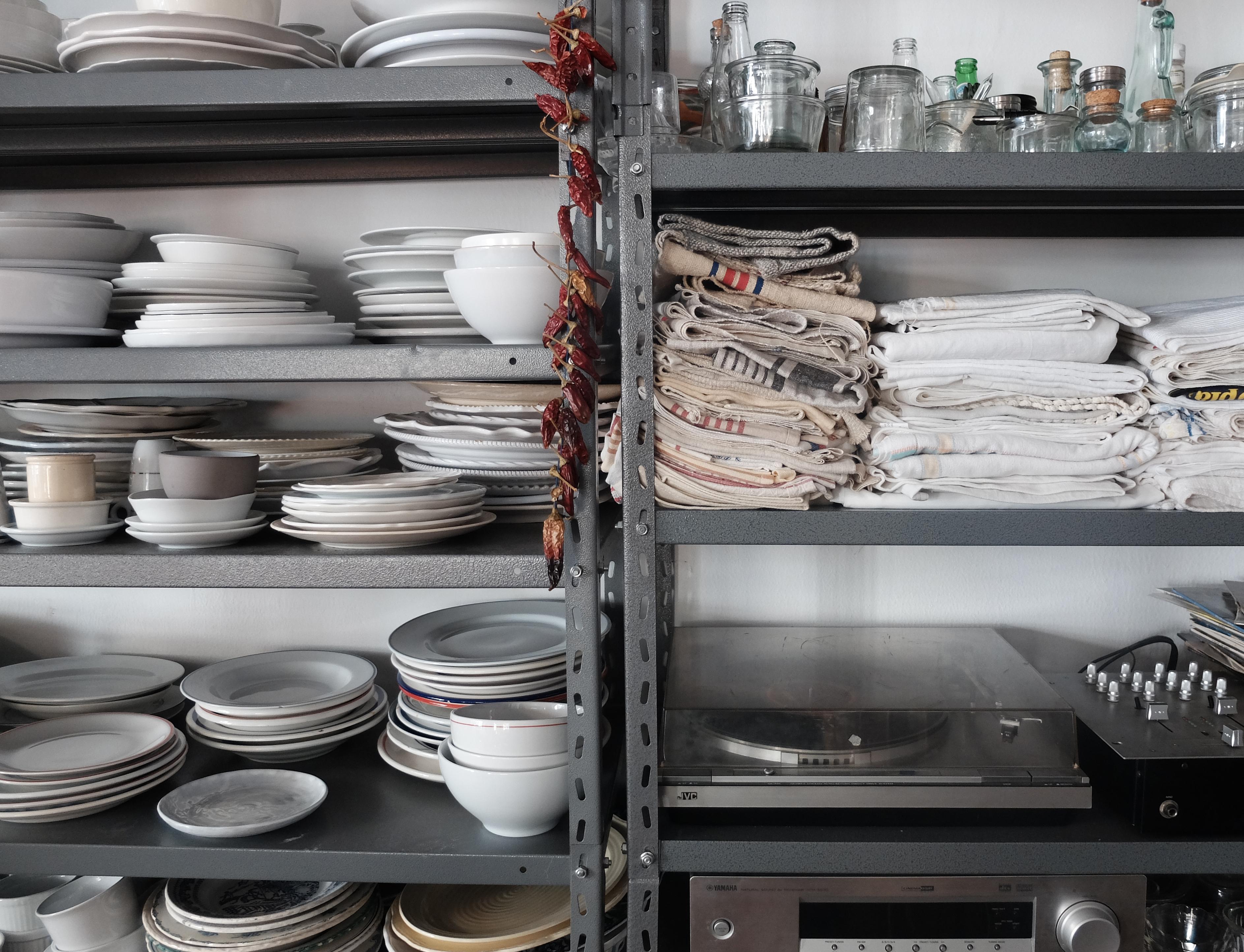 shelves linen